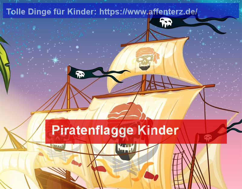 Piratenflagge Kinder - bei uns entdecken! - Party, Halloween.